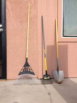Two Rakes And One Shovel in Yucca Valley, California
