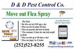 Move out flea treatment in Camp Lejeune, North Carolina