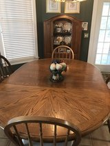 Antique Oak Cabinet with Glass insert in Shaw AFB, South Carolina