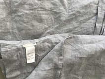 Pottery Barn Kids grey linen crib duster in Tomball, Texas