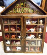 Antique Hanging Curio Cabinet with Figurines in Alamogordo, New Mexico