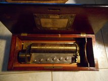 Swiss cylinder, key-wind music box, circa 1840 - 1850. in Eglin AFB, Florida