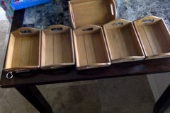 500 Mini Wooden Trays in Kingwood, Texas