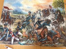 "2nd Cavalry Regiment ""Cpt May's Charge'' Original Painting Mexican American War in Grafenwoehr, GE"
