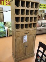 CLEARANCE CENTER ~ Tall Natural Wine Cabinet in Beaufort, South Carolina