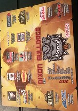 Dixon Bulldogs Football Fundraiser Card in Camp Lejeune, North Carolina