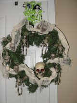 """HALLOWEEN ""SKELETON"" WREATH in Camp Lejeune, North Carolina"