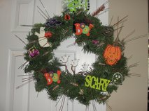 "HALLOWEEN ""PUMPKINS & GHOST"" WREATH in Camp Lejeune, North Carolina"