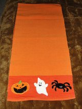 "HALLOWEEN ""GHOST PUMPKIN SPIDER"" THICK TABLE RUNNER FROM TARGET in Camp Lejeune, North Carolina"