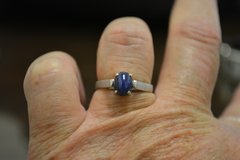 Silver Star Sapphire Ring Size 7 in New Lenox, Illinois
