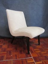 Mid Century Designer Chair with Off White Velour in Ramstein, Germany