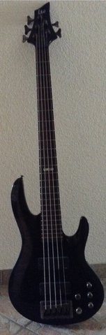 Black Electric Bass Guitar ESP in Baumholder, GE