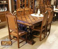 French Brittany Extending Table with Six Matching Chairs in Baumholder, GE