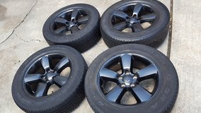 "20"" Dodge Ram black wheels and tires in Conroe, Texas"