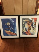 2 framed surfier girl prints in Okinawa, Japan