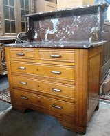 Antique Dresser with Marble Top with Fasade in Ramstein, Germany