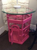 Unique Birdcage Table w/Beveled Glass Top in Beaufort, South Carolina