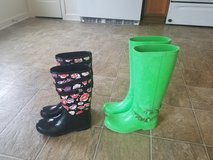 Women's size 7 Authentic Coach Rain Boots in Manhattan, Kansas