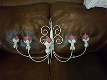 candelabra w/pink candles in Hinesville, Georgia