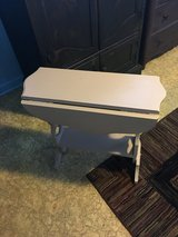 "Small drop leaf table 23"" open 23"" tall 8"" closed in Conroe, Texas"