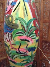 Lamp handcrafted in southwest style in 29 Palms, California