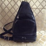 "Woman genuine leather backpack by""Perlina New York"" in 29 Palms, California"