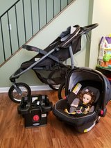 The Graco SnugRide Click Connect 35 Car Seat and The Graco FastAction Fold Jogger in Aurora, Illinois