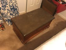 Cedar Chest with Leather Top in La Grange, Texas