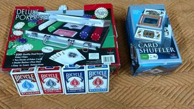 Unopened Deluxe Poker Set w/ 4 decks of cards and Card Shuffler in Alamogordo, New Mexico