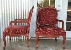 Pair of Beautiful Louis XV Queen Anne Lounge  Chairs in Baytown, Texas