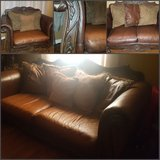 Leather Ashley leather living room set in Hopkinsville, Kentucky