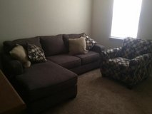 Like New Couch and Accent Chair w/Pillows in Warner Robins, Georgia
