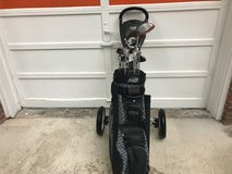 Golf clubs with 3 wheel caddy in Kansas City, Missouri