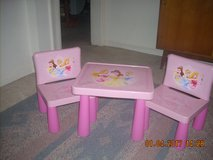 Disney Princess ~Child Table & 2 Chairs Play-set~ *Aurora *Cinderella *Belle, in Pink! in Fort Riley, Kansas