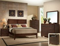SALE! ESPRESSO URBAN QUALITY WOOD QUEEN BED SET! in Camp Pendleton, California