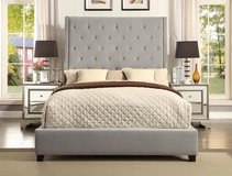 LABOR DAY SALE! UPSCALE VELVET TUFTED QUALITY GRAY BEDFRAME in Camp Pendleton, California