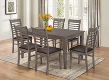 LABOR DAY SALE! BRAND NEW! 7PC GRAY FINISHED URBAN STYLING QUALITY DINING SET in Camp Pendleton, California