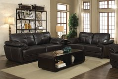 LABOR DAY SALE! BRAND NEW! URBAN LEATHER SOFA + LOVE LIVING ROOM COMFORTABLE SET! in Camp Pendleton, California
