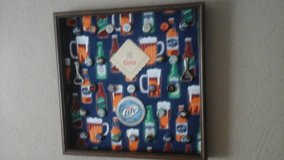 Mancave  Bar Framed Picture Beer Bottle Caps-Beer Bottle Openers -Beer Coasters in Lockport, Illinois