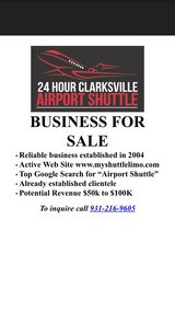 Business for Sale-Airport Shuttle in Fort Campbell, Kentucky