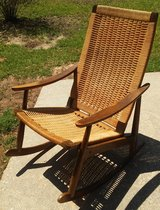 Vintage Mid Century Modern Hans Wegner Style Rope Rocking Chair in Mobile, Alabama