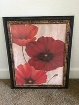 Red Poppy Painting in Camp Pendleton, California