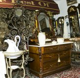 French wash stand / commode with mirror at 1860 in Ramstein, Germany