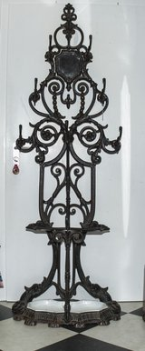VINTAGE  CAST IRON WARDEROBE with UMBRELLA STAND / HOLDER at 1860 in Ramstein, Germany