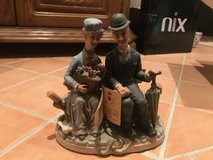 Ceramic Older Couple on Bench in Wiesbaden, GE