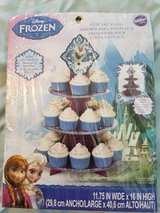 Frozen cupcake tower in Fort Leonard Wood, Missouri