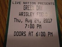 4 tickets to GREEN DAY at Wriggley Field  August 24 in Tinley Park, Illinois