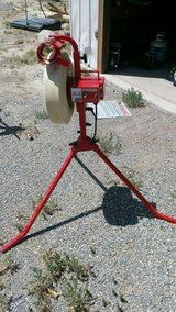 pitching machine in Nellis AFB, Nevada