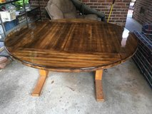 Round Dining Table with fresh clear coat in Beaufort, South Carolina