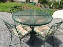 5-Piece Wrought Iron Table & Chair Set- New Price in Beaufort, South Carolina